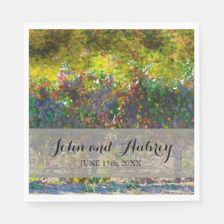 Vineyard or Winery Wedding Personalized Napkins Paper Napkins