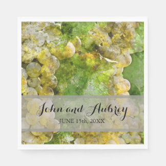 Vineyard or Winery Wedding Personalized Napkins Paper Serviettes