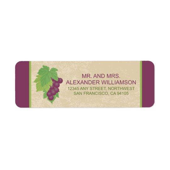 Vineyard Return Address Label (Parchment Texture)
