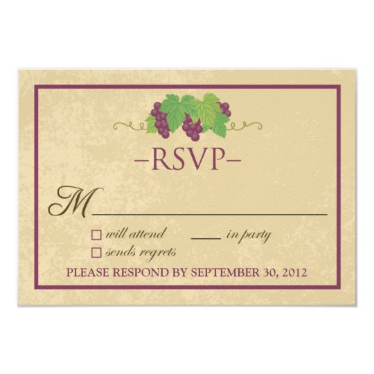 Vineyard RSVP Card (Parchment Design)