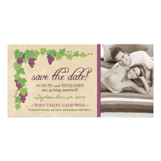 Vineyard Save the Date Announcement (Parchment) Customized Photo Card