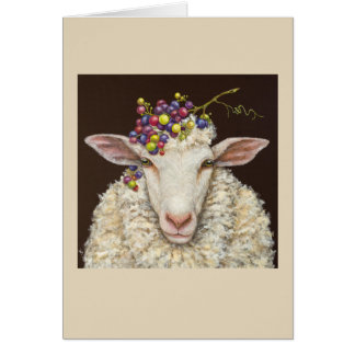 Vineyard Sheep card