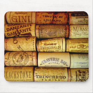 Vineyard Wine Corks Mousepads