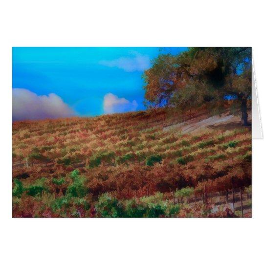 Vineyard / Wine Thank You Card