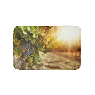 Vineyards At Sunset Bath Mat