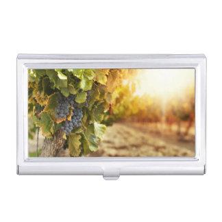 Vineyards At Sunset Business Card Holder