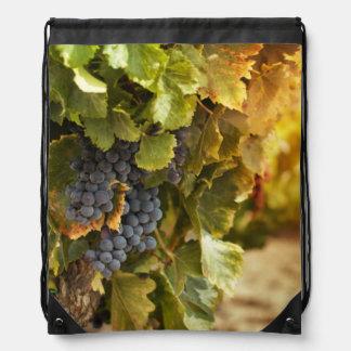 Vineyards At Sunset Drawstring Bag
