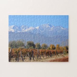 Vineyards In The Fall Of Mendoza, Argentina Jigsaw Puzzles