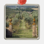 Vineyards, Tuscany, Italy Christmas Ornament