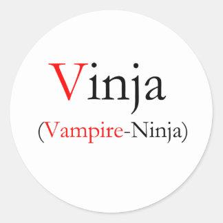 Vinja - Vampire Ninja Round Sticker