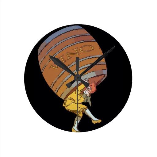 Vino Barrel Clock