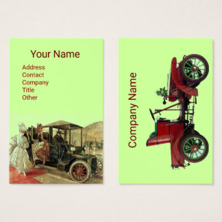 VINRAGE CARS CLASSIC AUTO RESTORATION  Red Green Business Card
