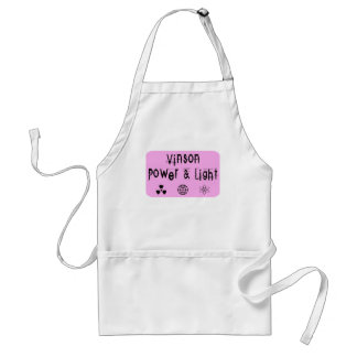 Vinson Power and Light, Pink Adult Apron