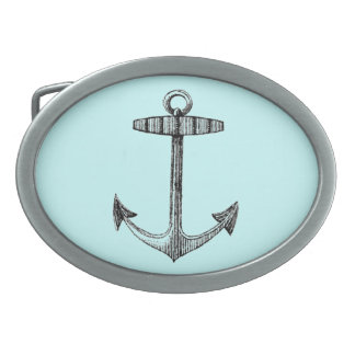 Vintag Nautical Anchor Oval Belt Buckle