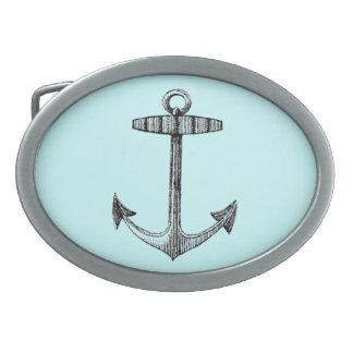 Vintag Nautical Anchor Oval Belt Buckle