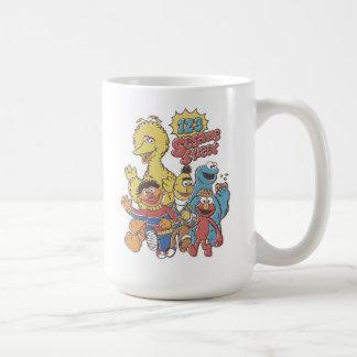 Vintage 123 Sesame Street Coffee Mug