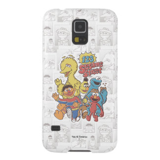 Vintage 123 Sesame Street Galaxy S5 Covers
