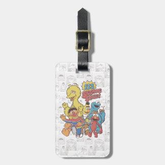Vintage 123 Sesame Street Luggage Tag