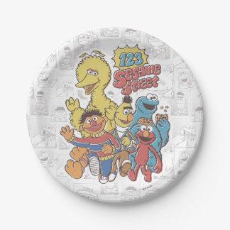 Vintage 123 Sesame Street Paper Plate