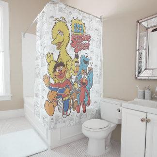 Vintage 123 Sesame Street Shower Curtain
