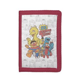 Vintage 123 Sesame Street Tri-fold Wallet