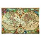 Vintage 1594 World Map Placement Placemat