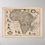 Vintage 1640 Africa Map Print