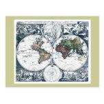 Vintage 1658 Nicolao Visscher World Map