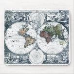 Vintage 1658 Nicolao Visscher World Map Mouse Pad