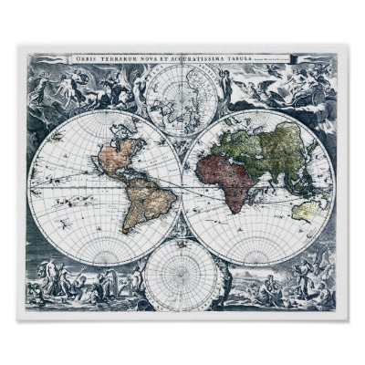 17th century world map poster zazzle gumiabroncs Images