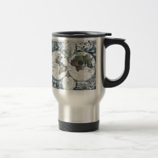 Vintage 1658 Nicolao Visscher World Map Travel Mug