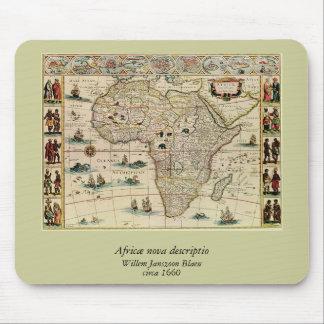 Vintage 1660's Africa Map by Willem Janszoon Blaeu Mouse Mat