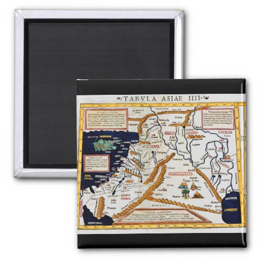 Vintage 16th Century Map Of The Middle East Refrigerator Magnet