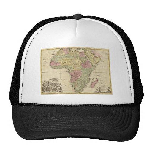 Vintage 1725 Africa Map Cap