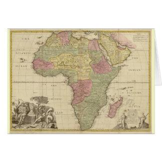 Vintage 1725 Africa Map Card