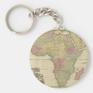 Vintage 1725 Africa Map Key Ring