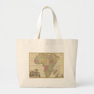 Vintage 1725 Africa Map Large Tote Bag