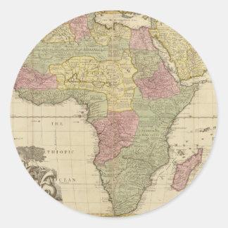 Vintage 1725 Africa Map Sticker