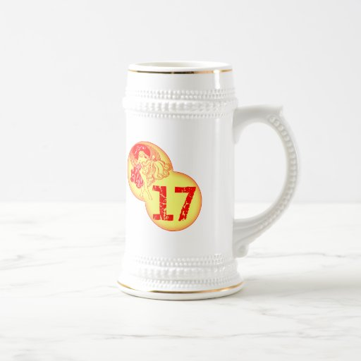Vintage 17th Birthday Gifts Mug