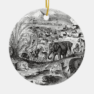 Vintage 1800s African Animal Illustration Animals Christmas Ornament
