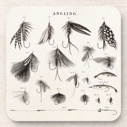Vintage 1800s Angling Fly Fishing Lures Lure Hooks