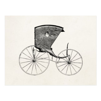 Vintage 1800s Antique Carriage Buggy Cart Coach Postcard