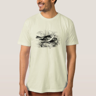 Vintage 1800s Birds Snow Bunting Bird Illustration T-Shirt