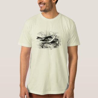 Vintage 1800s Birds Snow Bunting Bird Illustration T-Shirt