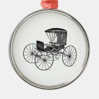 Vintage 1800s Carriage Horse-Drawn Antique Buggy Christmas Ornament