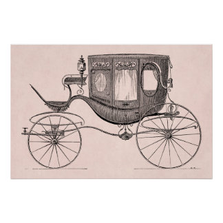 Vintage 1800s Carriage Horse-Drawn Antique Buggy Posters