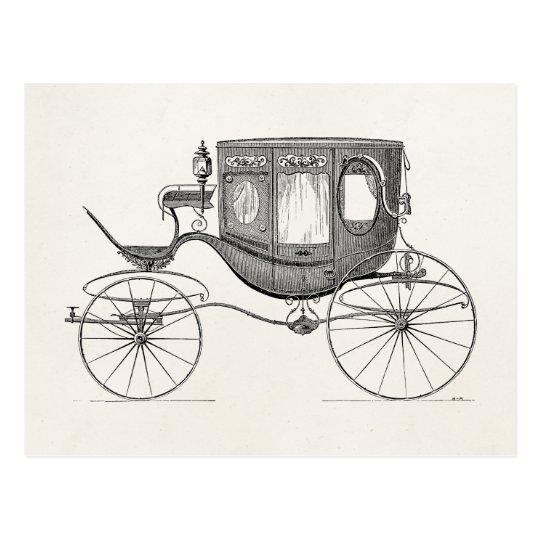 Vintage 1800s Carriage Horse Drawn Buggy Retro Car