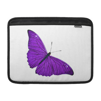 Vintage 1800s Dark Purple Butterfly Illustration Sleeve For MacBook Air