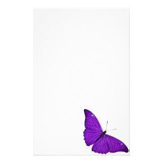 Vintage 1800s Dark Purple Butterfly Illustration Stationery