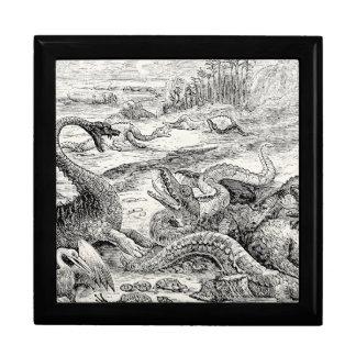 Vintage 1800s Dinosaur Illustration - Dinosaurs Gift Box